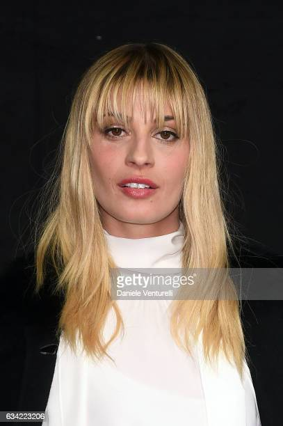 Sveva Alviti attends a photocall during the second day of 67 Sanremo Festival at Teatro Ariston on February 8 2017 in Sanremo Italy