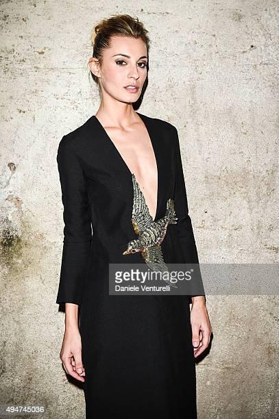Sveva Alviti attends Muse The Travel Issue Dinner at Segheria Di Carlo E Camilla on October 28 2015 in Milan Italy