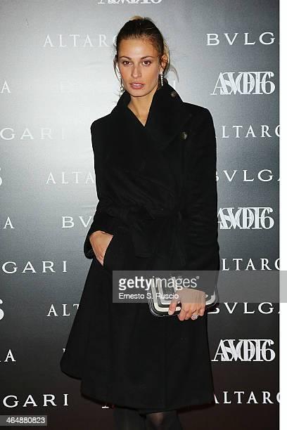 Sveva Alviti attends the 'ASVOFF 6' at Tempio di Adriano on January 24 2014 in Rome Italy