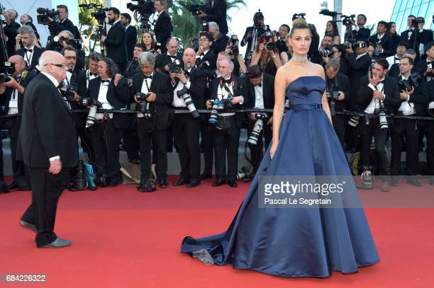 Sveva Alviti attends the 'Ismael's Ghosts ' screening and Opening Gala during the 70th annual Cannes Film Festival at Palais des Festivals on May 17...