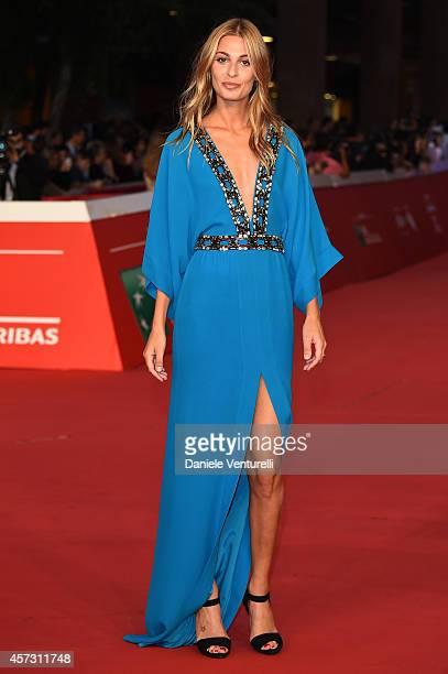 Sveva Alviti attends the Rome Film Festival Opening and 'Soap Opera' Red Carpet during the 9th Rome Film Festival at Auditorium Parco Della Musica on...