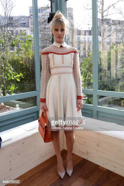 Sveva Alviti attends the Valentino show as part of the Paris Fashion Week Womenswear Fall/Winter 2017/2018 on March 5 2017 in Paris France