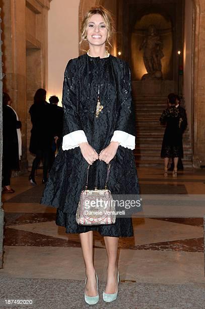 Sveva Alviti attends the Vanity Fair Dinner during The 8th Rome Film Festival at Villa Medici on November 9 2013 in Rome Italy