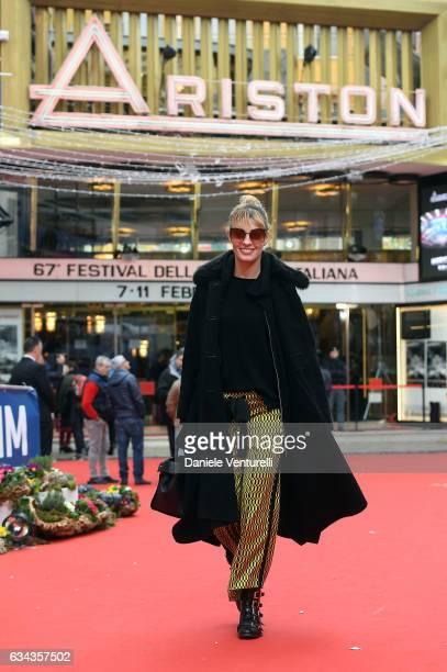 Sveva Alviti is seen at 67 Sanremo Festival on February 9 2017 in Sanremo Italy
