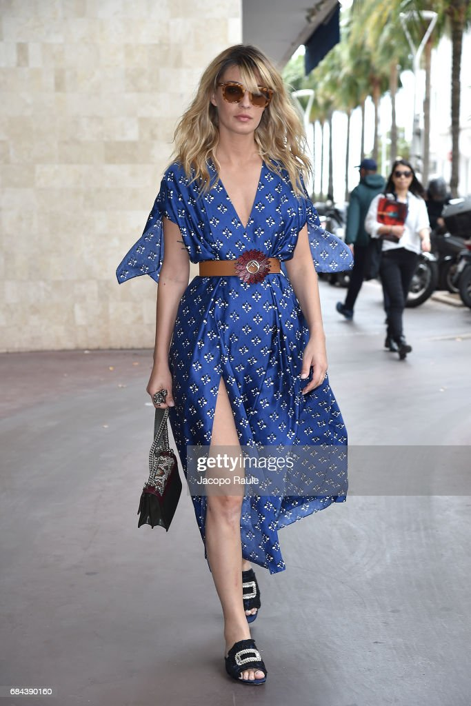 Sveva Alviti is spotted during the 70th annual Cannes Film Festival at on May 18, 2017 in Cannes, France.