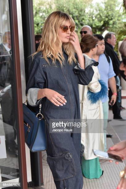 Sveva Alviti is spotted during the 70th annual Cannes Film Festival at on May 18 2017 in Cannes France