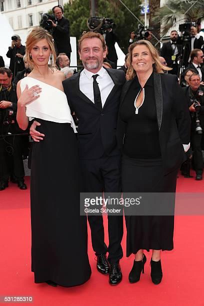 Sveva Alviti JeanPaul Rouve and Lisa Azuelos attend the 'Slack Bay ' premiere during the 69th annual Cannes Film Festival at the Palais des Festivals...