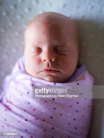 Swaddled Newborn : Stock Photo