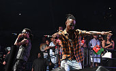 Swae Lee and Slim Jimmy of Rae Sremmurd performs onstage at Hot 1079 Birthday Bash at Philips Arena on June 18 2016 in Atlanta Georgia