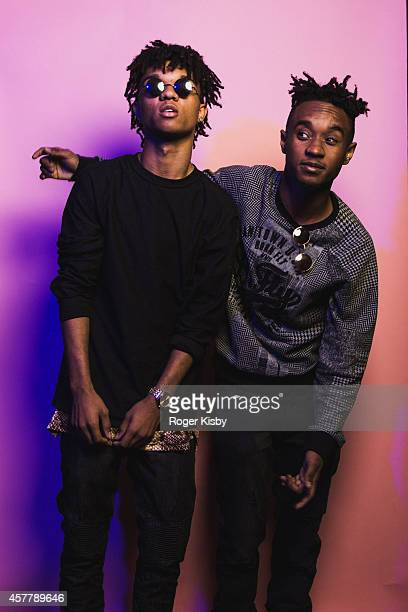 Swae Lee and Slim Jimmy of Rae Sremmurd pose for a portrait backstage at The Fader Fort Presented By Converse at Converse Rubber Tracks Studio on...