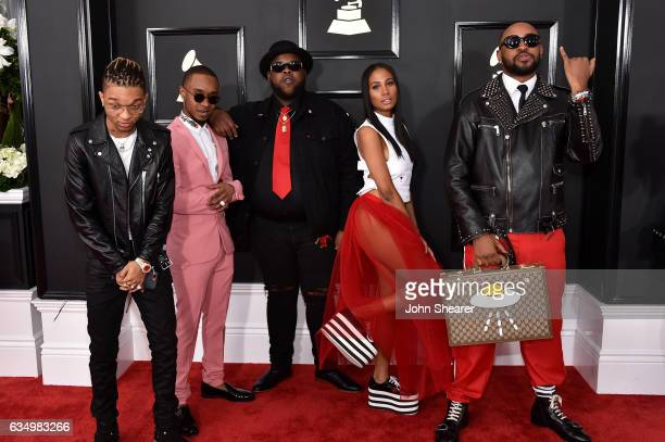 Swae Lee and Slim Jxmmi of Rae Sremmurd and producer Mike Will MadeIt attend The 59th GRAMMY Awards at STAPLES Center on February 12 2017 in Los...