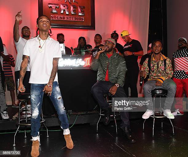 Swae Lee Mike Will Made It and Slim Jimmy on stage at 'SremmLife 2' private listening session at TreeSound Studios on August 3 2016 in Norcross...