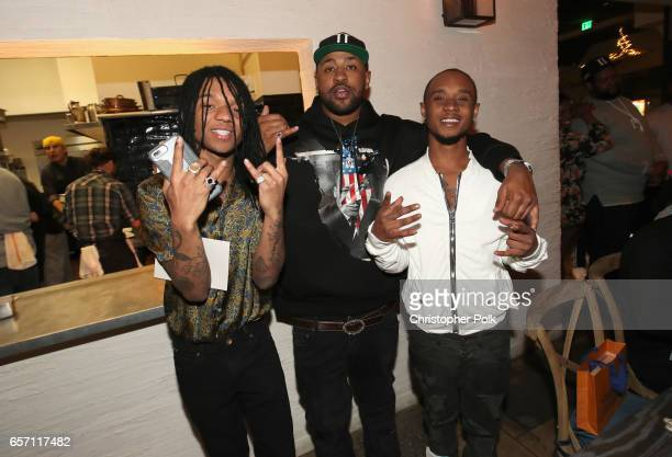 Swae Lee Mike Will Made It and Slim Jxmmi of Rae Sremmurd attend Mike Will Made It celebrates his birthday and the release of 'Ransom 2' at a DTS...