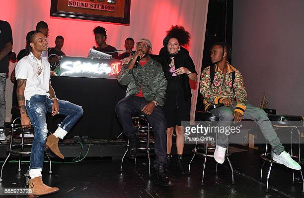 Swae Lee Mike Will Made It Mali Hunter and Slim Jimmy on stage at 'SremmLife 2' private listening session at TreeSound Studios on August 3 2016 in...