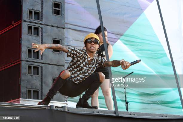 Swae Lee of Rae Sremmurd performs on day 2 of Wireless Festival at Finsbury Park on July 8 2017 in London England