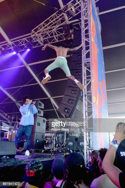 Swae Lee of Rae Sremmurd performs onstage during the 2017 Governors Ball Music Festival Day 2 at Randall's Island on June 3 2017 in New York City