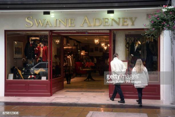 Swaine Adeney Brigg the internationally famous leather goods store in Old Bond Street where missing Lord Lucan deposited a broken umbrella before his...