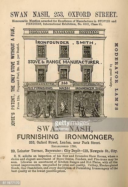 Swan Nash, Furnishing Ironmonger - advertisement, 1865