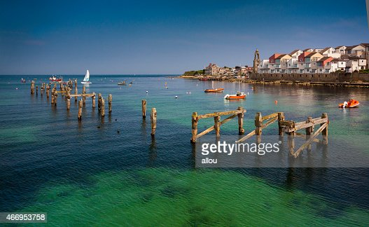 Swanage Pier and Bay in Summer : Stock Photo