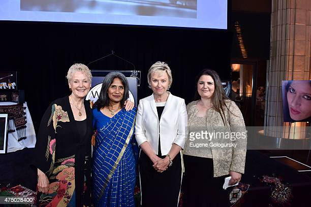 Swanee Hunt Sunita Viswanath and Manizha Naderi attend the Women For Afghan Women Hosts 14th Anniversary Gala at Gustavino's on May 28 2015 in New...