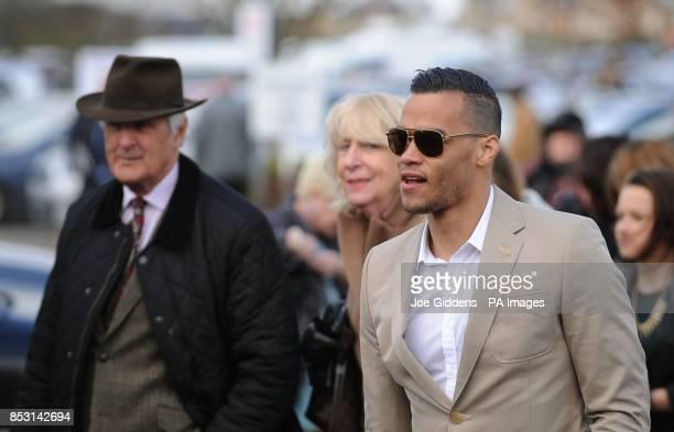Swansea City footballer Michel Vorm arrives for Champion Day at Cheltenham Racecourse Cheltenham