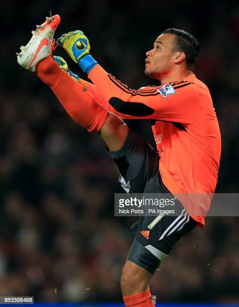 Swansea City goalkeeper Michel Vorm during the Barclays Premier League match at the Emirates Stadium London