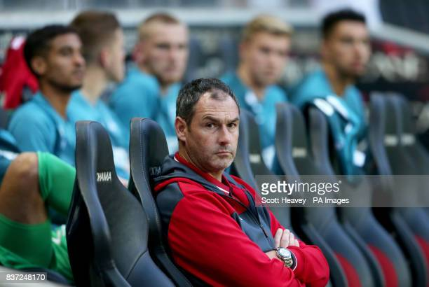 Swansea City manager Paul Clement during the Carabao Cup Second Round match at Stadium MK Milton Keynes