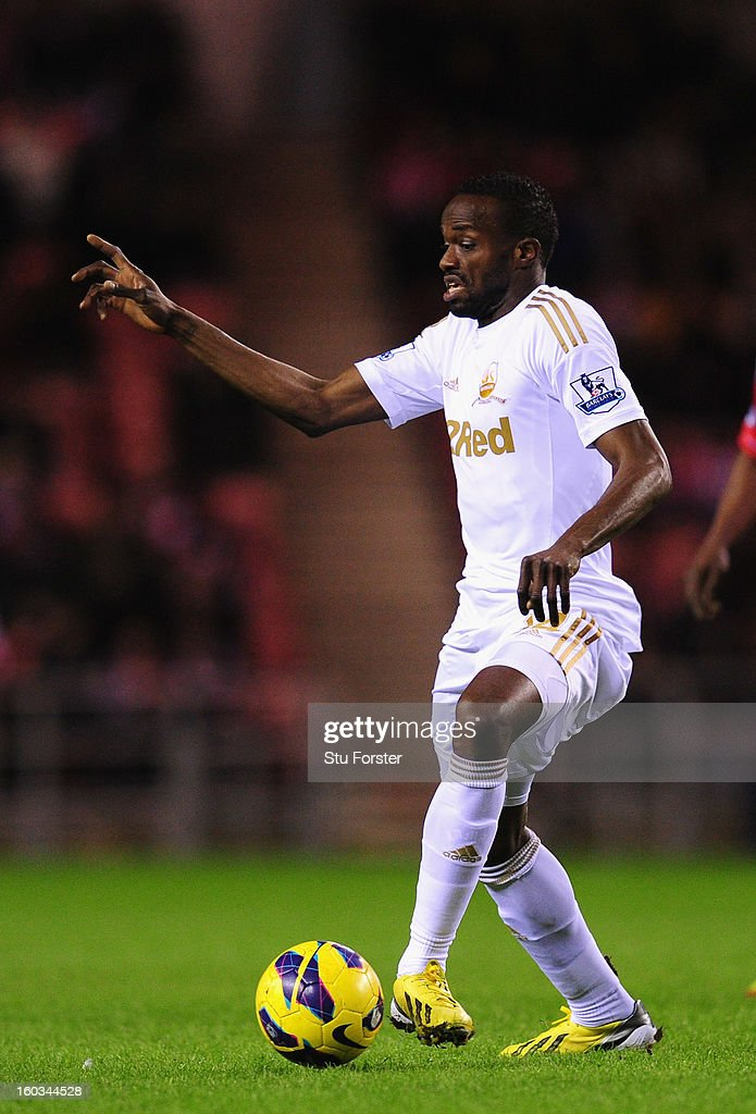 Swansea City player Roland Lamah in action during the Barclays Premier League match between Sunderland and Swansea City at Stadium of Light on January 29, 2013 in Sunderland, England.