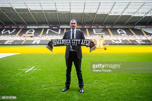 Swansea City unveil Paul Clement as their new manager at The Liberty Stadium on January 5 2017 in Swansea Wales
