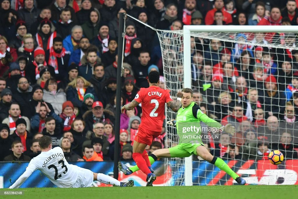 FBL-ENG-PR-LIVERPOOL-SWANSEA : News Photo