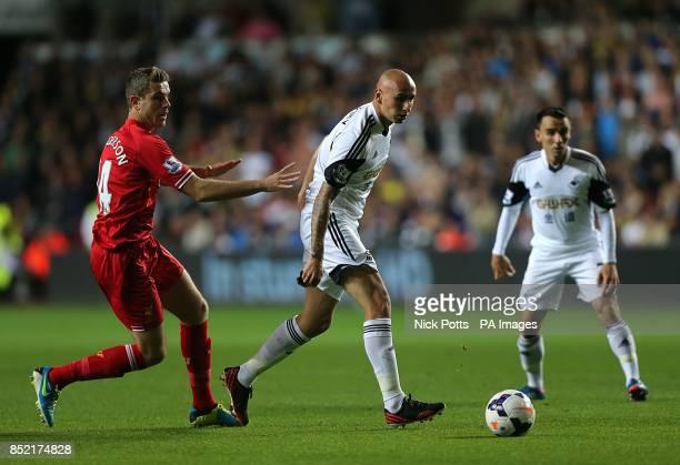 Swansea City's Jonjo Shelvey fails to complete a back pass to goalkeeper Michel Vorm