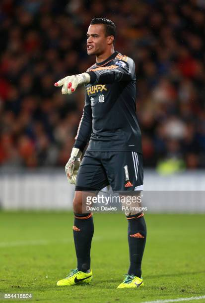 Swansea City's Michel Vorm during the Barclays Premier League match at Cardiff City Stadium Cardiff