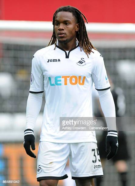 Swansea City's Renato Sanches during the Premier League match between Swansea City and Leicester City at Liberty Stadium on October 21 2017 in...