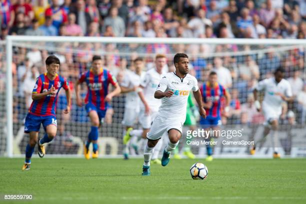Swansea City's Wayne Routledge in action during the Premier League match between Crystal Palace and Swansea City at Selhurst Park on August 26 2017...