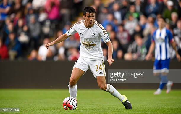 Swansea player Jack Cork in action during the Pre season friendly match between Swansea City and Deportivo La Coruna at Liberty Stadium on August 1...