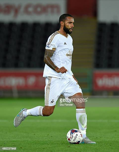 Swansea player Kyle Bartley in action during the Capital One Cup Second Round match between Swansea City and York City at Liberty Stadium on August...