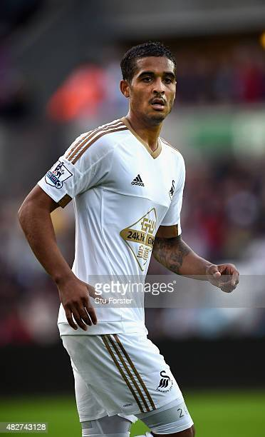 Swansea player Kyle Naughton in action during the Pre season friendly match between Swansea City and Deportivo La Coruna at Liberty Stadium on August...