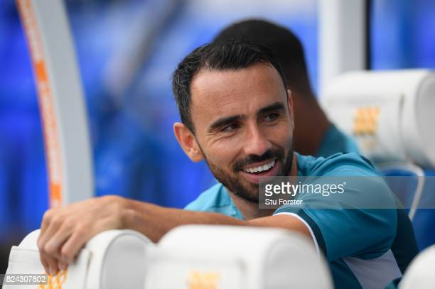 Swansea player Leon Britton looks on before the Pre Season Friendly match between Birmingham City and Swansea City at St Andrews on July 29 2017 in...