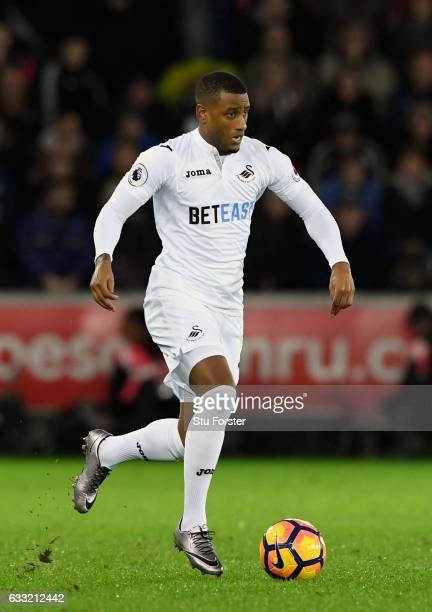 Swansea player Luciano Narsingh in action during the Premier League match between Swansea City and Southampton at Liberty Stadium on January 31 2017...