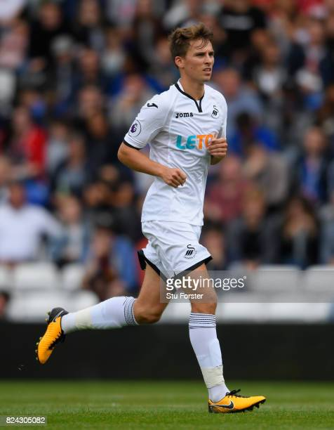 Swansea player Tom Carroll in action during the Pre Season Friendly match between Birmingham City and Swansea City at St Andrews on July 29 2017 in...