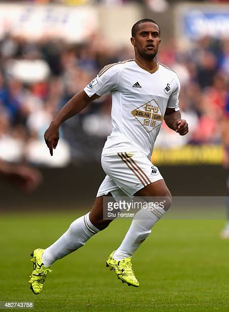 Swansea player Wayne Routledge in action during the Pre season friendly match between Swansea City and Deportivo La Coruna at Liberty Stadium on...