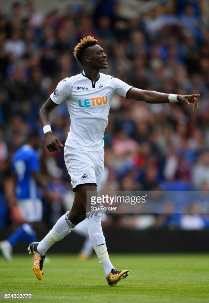 Swansea striker Tammy Abraham in action during the Pre Season Friendly match between Birmingham City and Swansea City at St Andrews on July 29 2017...