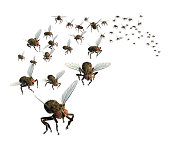 3D render of a swarm of flies - they're headed your way!
