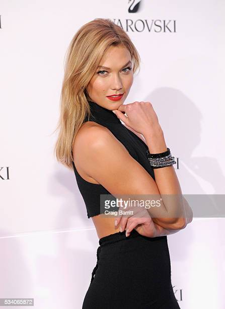 Swarovski brand ambassador Karlie Kloss attends Swarovski #bebrilliant at The Weather Room at the Top of the Rock on May 24 2016 in New York City