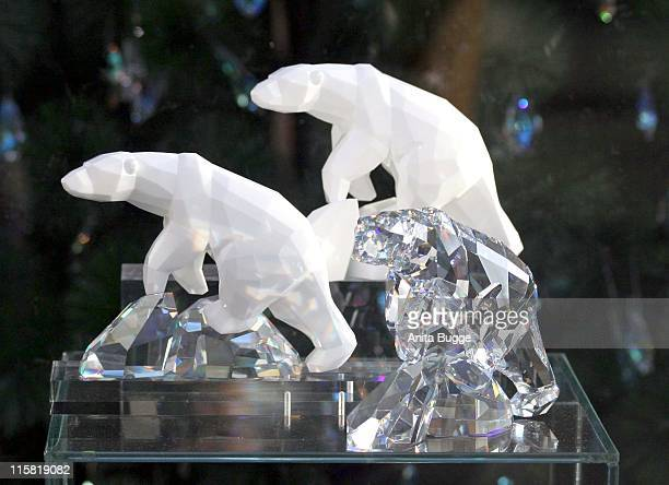 Swarovski Polar Bears during Europe's Most Expensive Christmas Tree in Berlin November 30 2006 at Hauptbahnhof in Berlin Berlin Germany