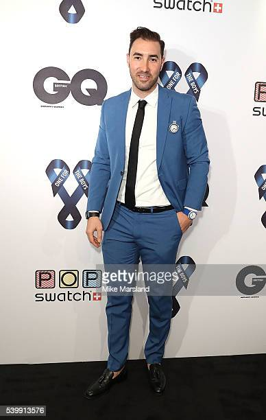 Swatch brand manager Roberto Pardo attends as GQ and One For The Boys with Swatch host the London Collections Men closing night karaoke at Abbey Road...
