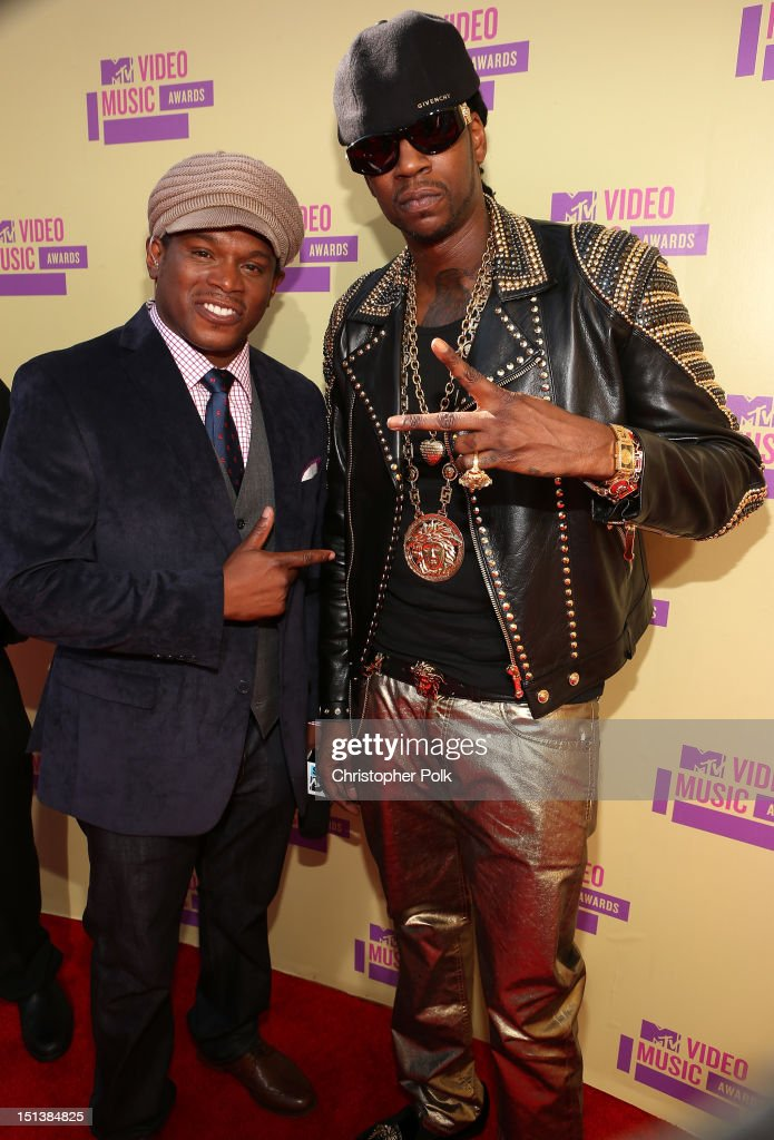 Sway and rapper 2 Chainz arrive at the 2012 MTV Video Music Awards at Staples Center on September 6, 2012 in Los Angeles, California.