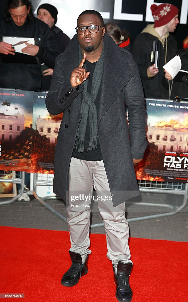 Sway attends the UK Premiere of 'Olympus Has Fallen' at BFI IMAX on April 3, 2013 in London, England.