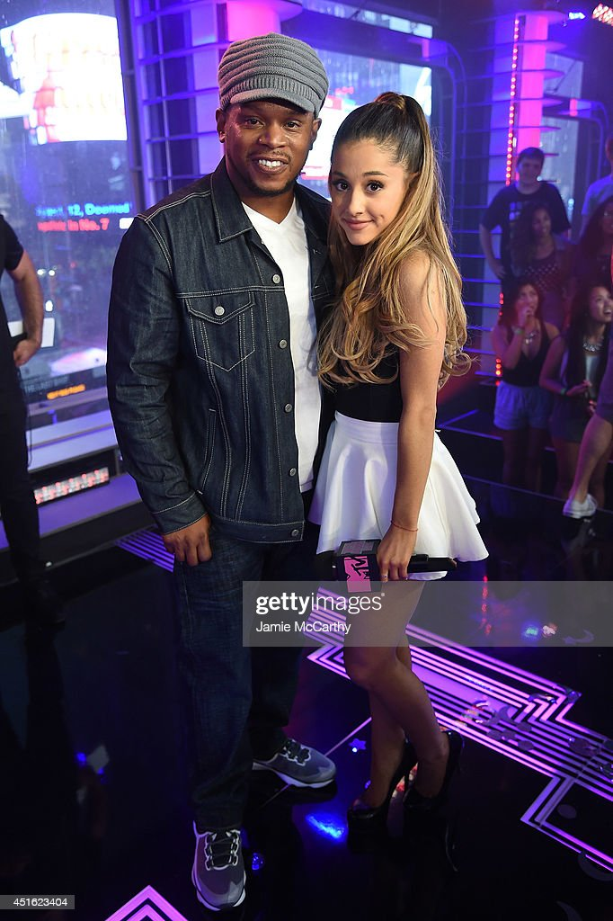 <a gi-track='captionPersonalityLinkClicked' href=/galleries/search?phrase=Sway+Calloway&family=editorial&specificpeople=214641 ng-click='$event.stopPropagation()'>Sway Calloway</a> and <a gi-track='captionPersonalityLinkClicked' href=/galleries/search?phrase=Ariana+Grande&family=editorial&specificpeople=5586219 ng-click='$event.stopPropagation()'>Ariana Grande</a> attend MTV's 'Total Ariana Live' at MTV Studios on July 2, 2014 in New York City.