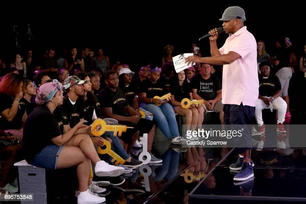 Sway Calloway attends a Get Schooled event at MTV in the Viacom Building on June 13 2017 in New York City